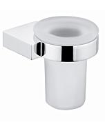 Kludi A-XES Glashalter 4897505 chrom, Glas satiniert, Wandhalter drehbar