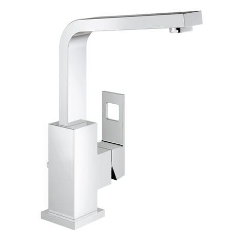 Mitigeur lavabo Grohe Eurocube 23135000 bec haut, avec garniture d'écoulement, chrome