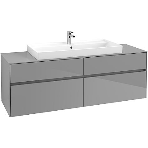 Villeroy & Boch Collaro meuble sous lavabo C03100FP, 1600x548x500 mm, Glossy Grey
