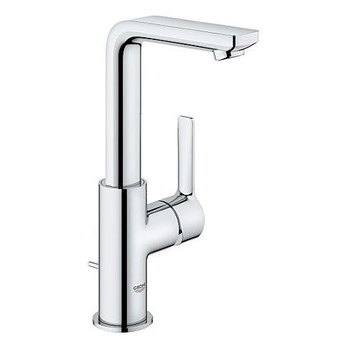 Mitigeur lavabo Grohe Lineare L-Size 23296001 chromé, avec garniture de vidange