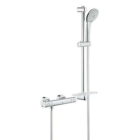 Grohe Grohtherm 1000 Cosmopolitan 34286002 chrome mitigeur douche thermostatique, avec set de douche