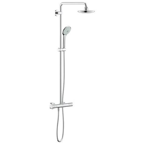 Grohe Euphoria 180 shower system 27296001 chrome, thermostatic mixer for wall mounting