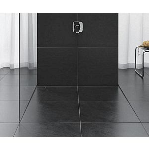 poresta systems Slot S Duschsystem 20001403 1200x1200x60 mm, 12 mm, Ablauf rechts, senkrecht