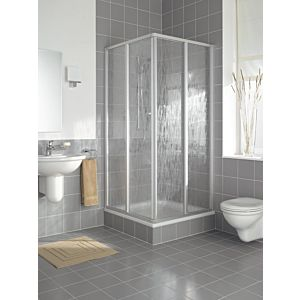 Kermi Nova 2000 Eckeinstieg N2ED20901811K 2-teiig, 90 x 185 cm, Silber matt Kerolan Fontana
