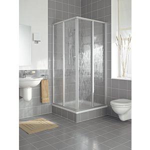Kermi Nova 2000 Eckeinstieg N2ED20751811K, 2-teile 75 x 185 cm, Silber matt Kerolan Fontontana