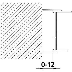 Kermi Wandanschlussprofil Ibiza 2000 Höhe 185 mm, silber, für Gleittür (I2 STD)