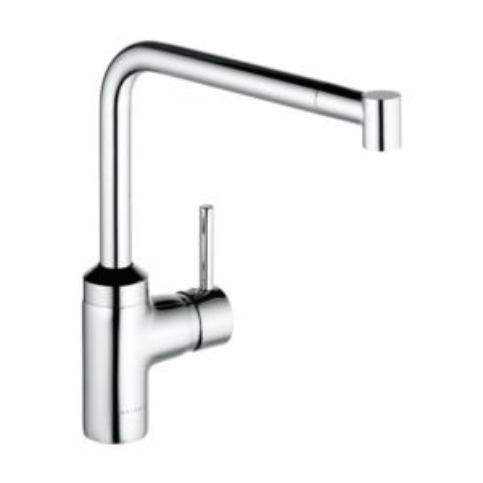 Kludi L-INE sink mixer 428210577 chrome, swivel extractable spout