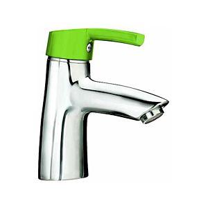 Laufen Florakids Waschtisch-Einhebelmischer  H3116510141101, grün, ohne Ablaufgarnitur