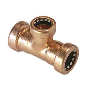 T-Stück VSH Tectite TT130 R 22x18x22mm, Kupfer, reduziert, unlösbar