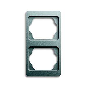 Busch Jaeger alpha exclusive Rahmen 1732KA266  2-fache, titan, senkrecht