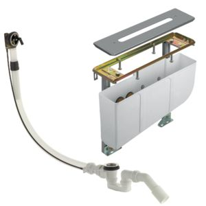KLUDI Wannenrand-Montageeinheit Rotexa Multi mit Ein-,Ab- und Überlaufgarnitur