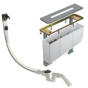 Unité de montage de bord de baignoire KLUDI Rotexa Multi avec set d'entrée, de sortie et de trop-plein