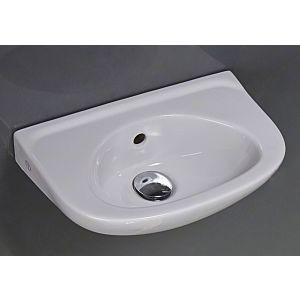 Gustavsberg Saval 2.0 Handwaschbecken 7G364001 weiss, Hahnloch seitlich, 40x25cm