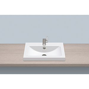 Alape sit-on basin AB.R585H.1 3202000000 58,5 x 40,5 cm, white, with tap hole and overflow