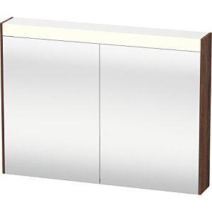 Duravit Brioso LED-Spiegelschrank BR710202121 820x760mm, Nussbaum Dunkel, 2 Türen