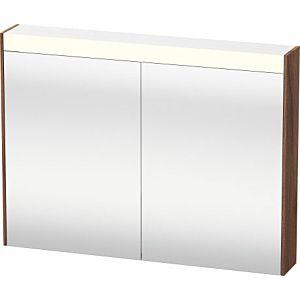 Duravit Brioso LED-Spiegelschrank BR710207979 820x760mm, Nussbaum Natur, 2 Türen