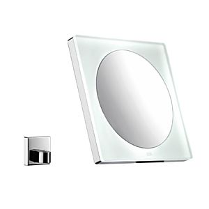 Emco LED-Akku-Kosmetikspiegel 109600122 chrom, Vergr. 3-fach, beleuchtet, eckig