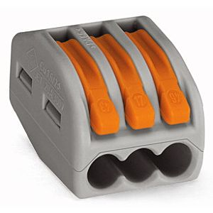 Wago Verbindungsklemme 3x0,08-4 qmm grau 222-413  3x0,08-4qmm gr 222-413