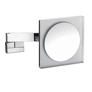 Emco LED Kosmetikspiegel 109606024 chrom, Vergrößerung 3-fach, eckig, Doppelgelenkarm