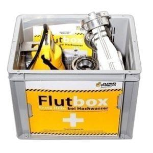 Jung Flutbox komplett mit Pumpe JP09479 mit Feuerwehrschlauch und Behälter