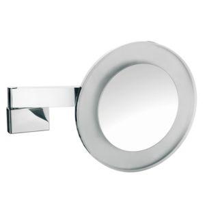Emco LED Rasier- und Kosmetikspiegel 109606008 chrom, 5-fach Vergrößerung, Wandmodell, rund