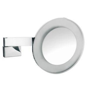 Emco LED shaving and cosmetic mirror 109606008 chrome, 5x magnification, wall-mounted