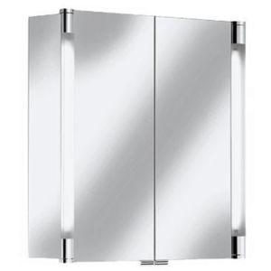 Keuco Royal T2 Mirror cabinet 13801171301 70 x 70 x 16,6 cm, silver anodized