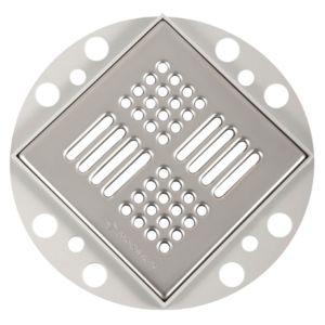 poresta systems Rostrahmen Poresta BF 18200244 quadratisch, Höhe 5 mm, mit Standard-Edelstahlrost