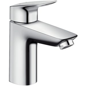 hansgrohe Logis Single lever basin mixer 71100000 chrome, pop-up waste set