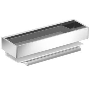 Keuco Edition 11 shower basket 11159010000 aluminium silver anodized with glas puller
