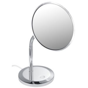 Keuco Miroir grossissant Elegance 17677019000 avec éclairage, modèle à poser, chromé