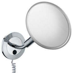 Keuco Miroirs grossissants Miroir grossissant 17676019001 modèle mural avec prise chromé