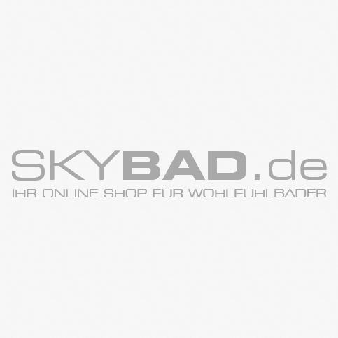Artiqua Basic Badmöbel Set 80811091002 100 cm, Weiß Glanz, Waschtisch+Unterschrank