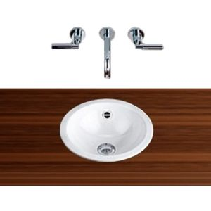 Alape built-in basin K400 2001000000  Ø 40 cm, white, with overflow, without tap hole