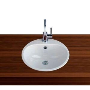 Alape built-in basin EW3 2005000000 47,5 cm, white, with tap hole and overflow