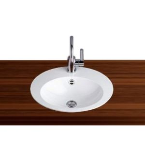 Alape built-in basin EB.O600H 2104000000 60 x 50 cm, white, with tap hole and overflow