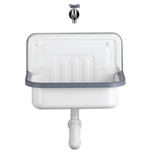Alape bucket sink AG.CONTRA505 1300000000 50,5 x 33 cm, white, without tap hole and overflow