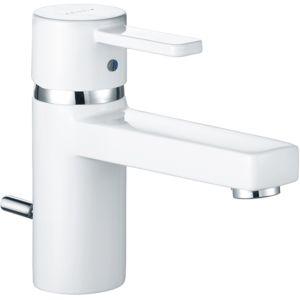 Kludi Zenta White Waschtischarmatur 382509175  chrom/white, Ausladung 106 mm, m. Ablaufgarnitur