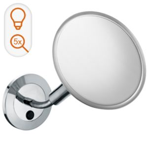 Keuco Elegance Cosmetic mirror 17676019000 chrome-plated wall mounted model