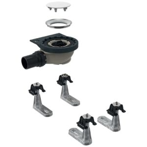 Geberit Setaplano Rohbau-Set 154020001 für Setaplano Duschfläche, 4 Füße, 40mm