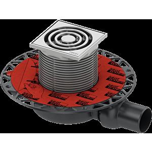 TECEdrainpoint S 110 Ablaufset 3601100 100x100mm, DN50, superflach, mit Universalflansch