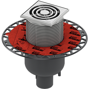 TECEdrainpoint S 130 Ablaufset 3601300 100x100mm, DN50, senkrecht, mit Universalflansch
