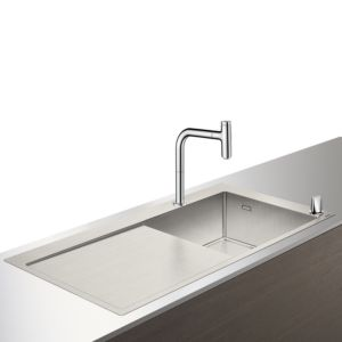 Hansgrohe Select C71-F450-07 Spülencombi 43205000 chrom, mit sBox, 1 Hauptbecken, Abtropffläche