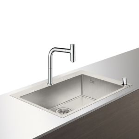 Hansgrohe Select C71-F660-08 Spülencombi 43202000 chrom, mit sBox, 1 Hauptbecken