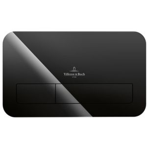 Villeroy & Boch ViConnect M200 922400RB Betätigungsplatte, glossy black, Sicherheitsglas