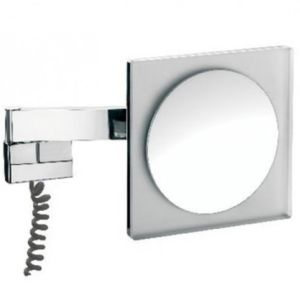 Emco LED shaving and cosmetic mirror 109606005 chrome, magnifying glass 5, wall mounted