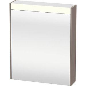 Duravit Brioso LED-Spiegelschrank BR7101L4343 620x760mm, Basalt Matt, Tür links