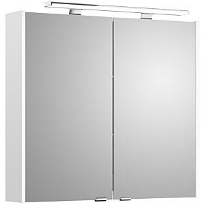 Artiqua Spiegelschrank 812E4580 800mm, weiß glanz, 2 Türen, LED Aufsatzleuchte