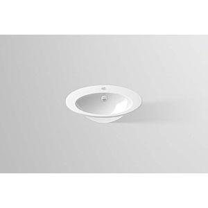 Alape Vasque encastrée EB.O500H 2102000000 50 x 40 cm,intérieur et extérieur vitrifiés, blanc