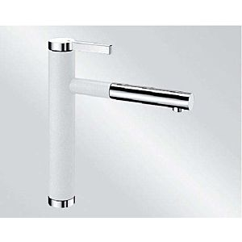 Blanco Linee-s Küchenarmatur 518441 ausziehbar, SILGRANIT-Look silgranitweiß/chrom